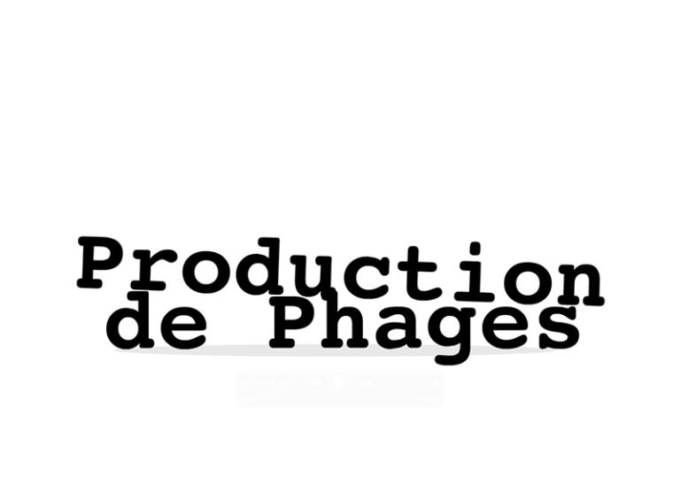 Production de phages